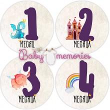 """Наклейки с месяцами для новорожденных """"Волшебный замок"""""""