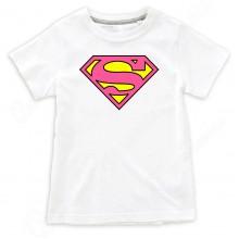 """Детская футболка с надписью """"SuperGirl"""""""